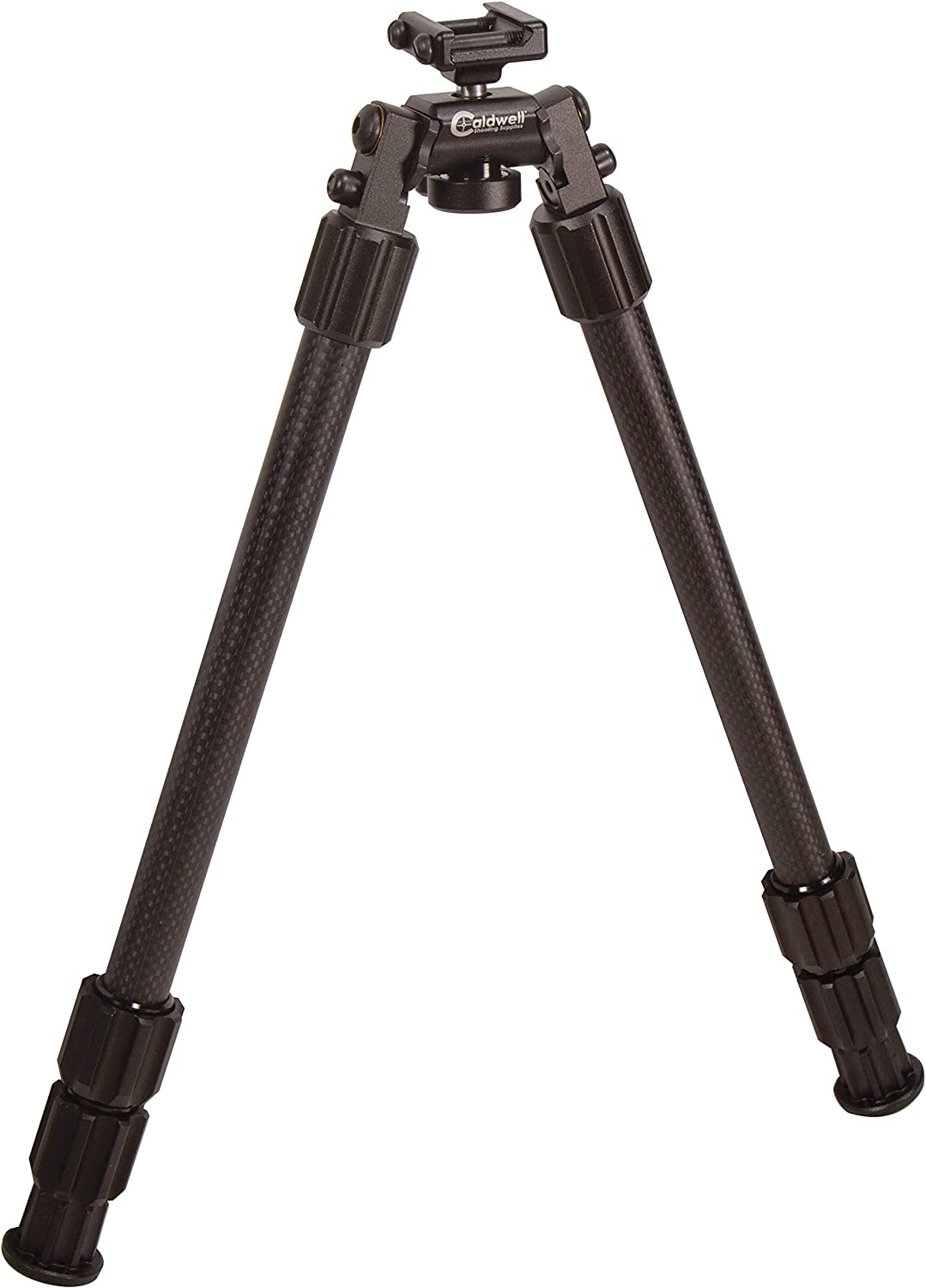 Caldwell Accumax Premium Carbon Fiber Pic Rail Bipod with Twist Lock Quick-Deployment Legs for Mounting on Long Gun Rifle for Tactical Shooting Range and Sport