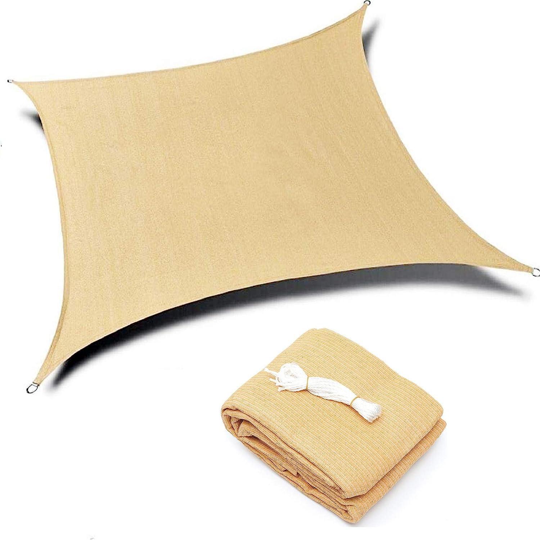 Kimdee Sun Shade Sail (20'x16') Canopy UV Block for Outdoor Patio Garden Activity (Earthy Yellow)