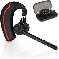 Bluetooth Headset Hands-Free Bluetooth Earpiece Wireless Headset Cellphone Mic Earphones for Business/Sport/Driving Stereo Bluetooth V4.1 Headphone Compatible iPhone,Samsung,Laptop