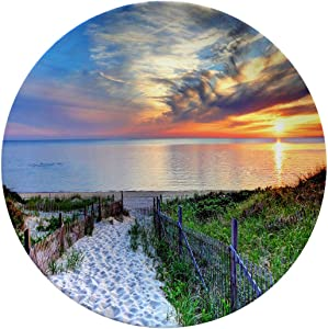 Art Ceramic Dinner Plates,Path With Beach Fence Leading To A Secluded,dinner Plates Set Plate For Home And Kitchen,dinner Dishes,6 Inch 6 Piece Set