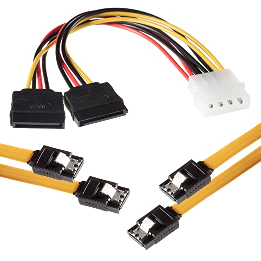 25 opinioni per Poppstar Cavo 2X SATA 3 0,5 m su 2X Connettori a Fermaglio 15-Pin Diritti E