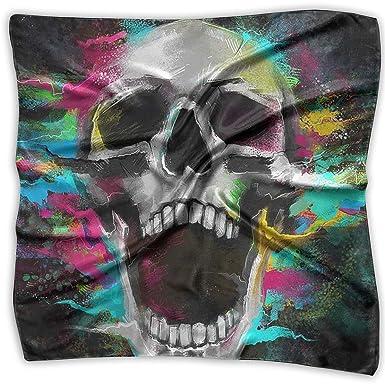 b8deabe45e15 Handkerchiefs Scarf Halloween Skull Background Novelty Shawl ...