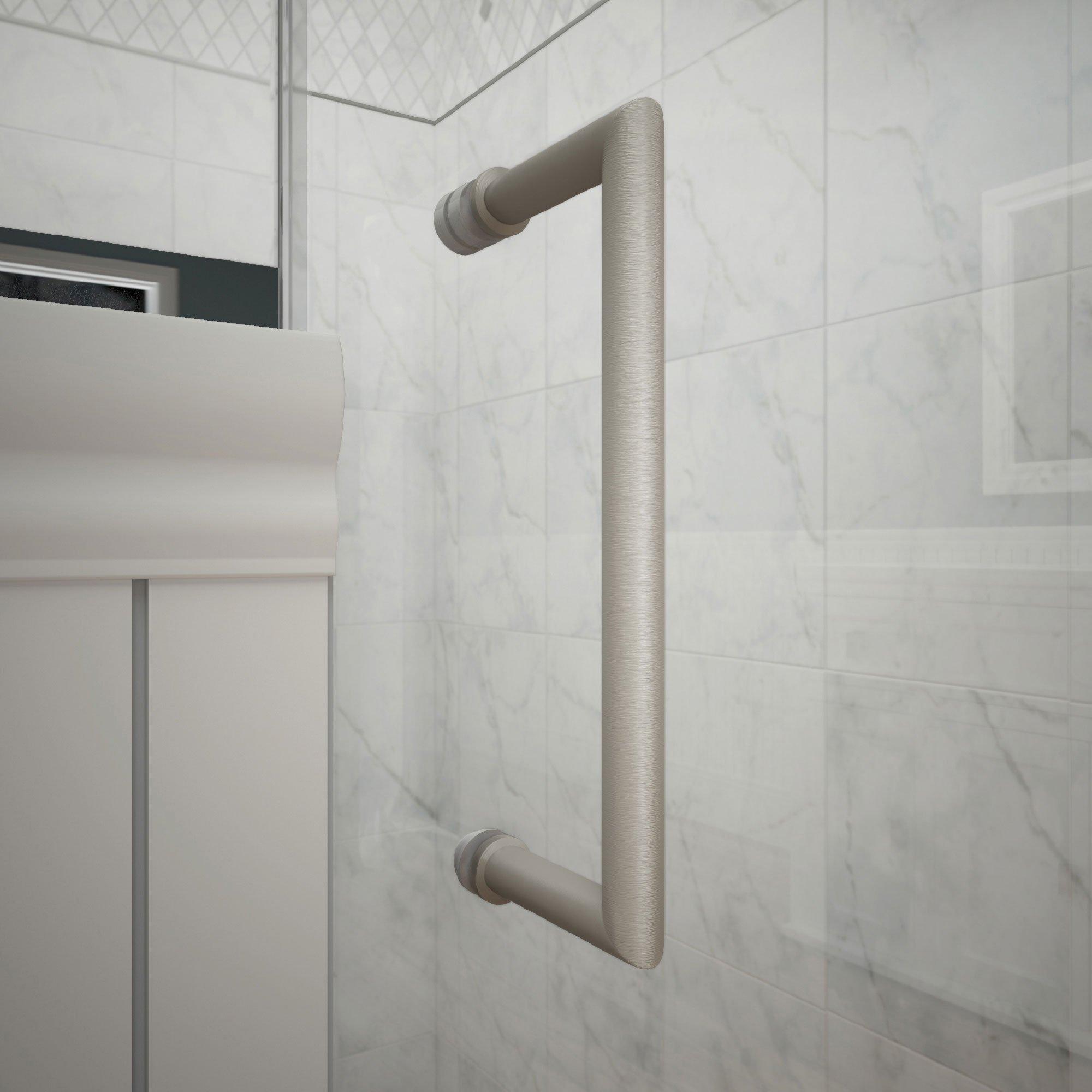DreamLine Mirage-X 56-60 in. Width, Frameless Sliding Shower Door, 3/8'' Glass, Brushed Nickel Finish by DreamLine (Image #4)