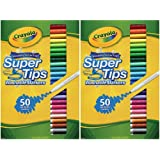 Crayola Washable Super Tips, 50 Count (2 Boxes)