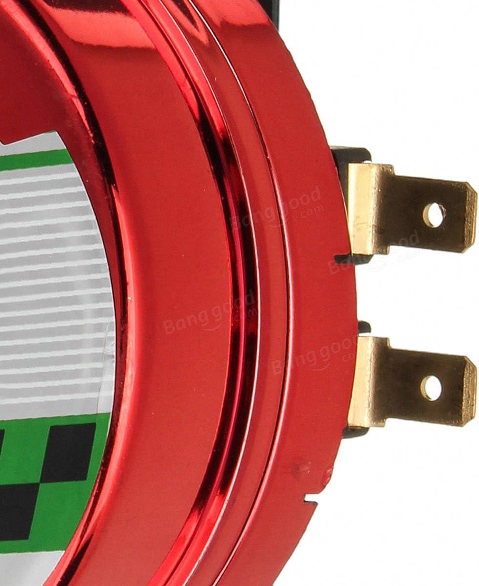 SGerste 12V 130dB Universal Waterproof Loud Snail Air Horn Siren For Truck Motorcycle Car-Red
