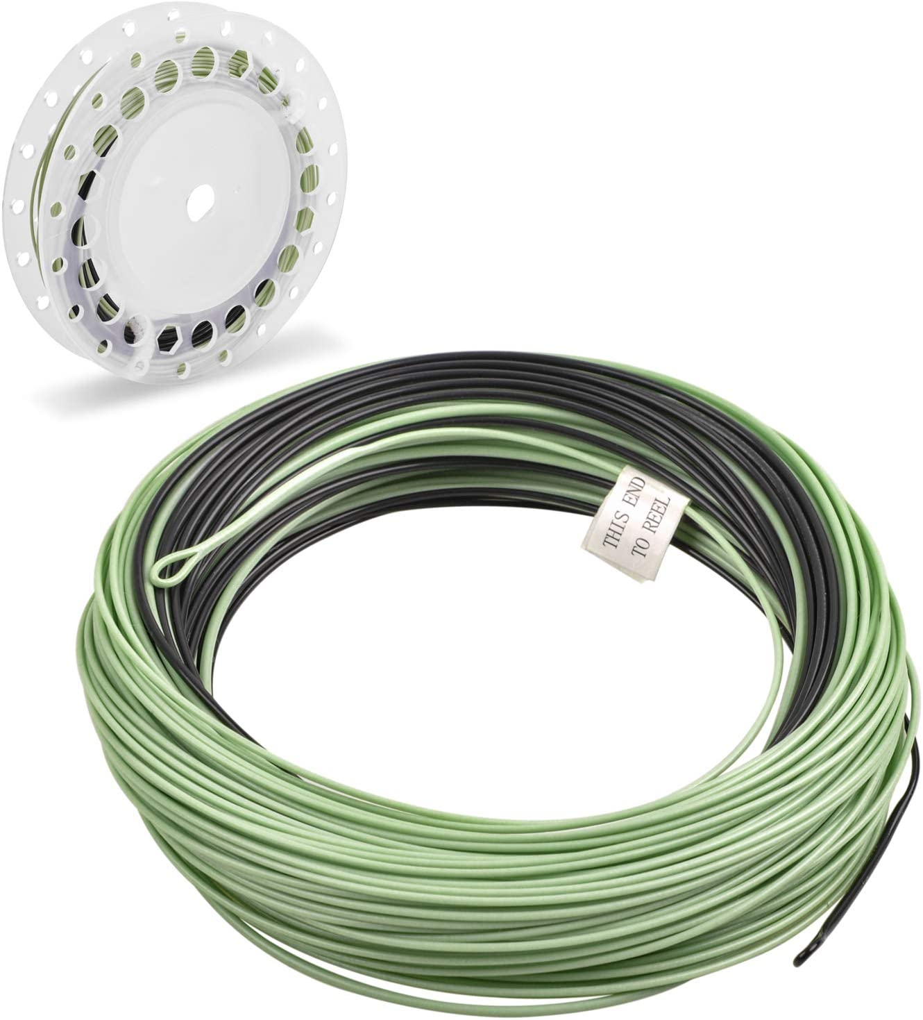 JSHANMEI Sink Tip Fly Fishing Line 100FT Double Color Weight Forward Floating Fly Line with 2 Welded Loops Fly Fishing Line