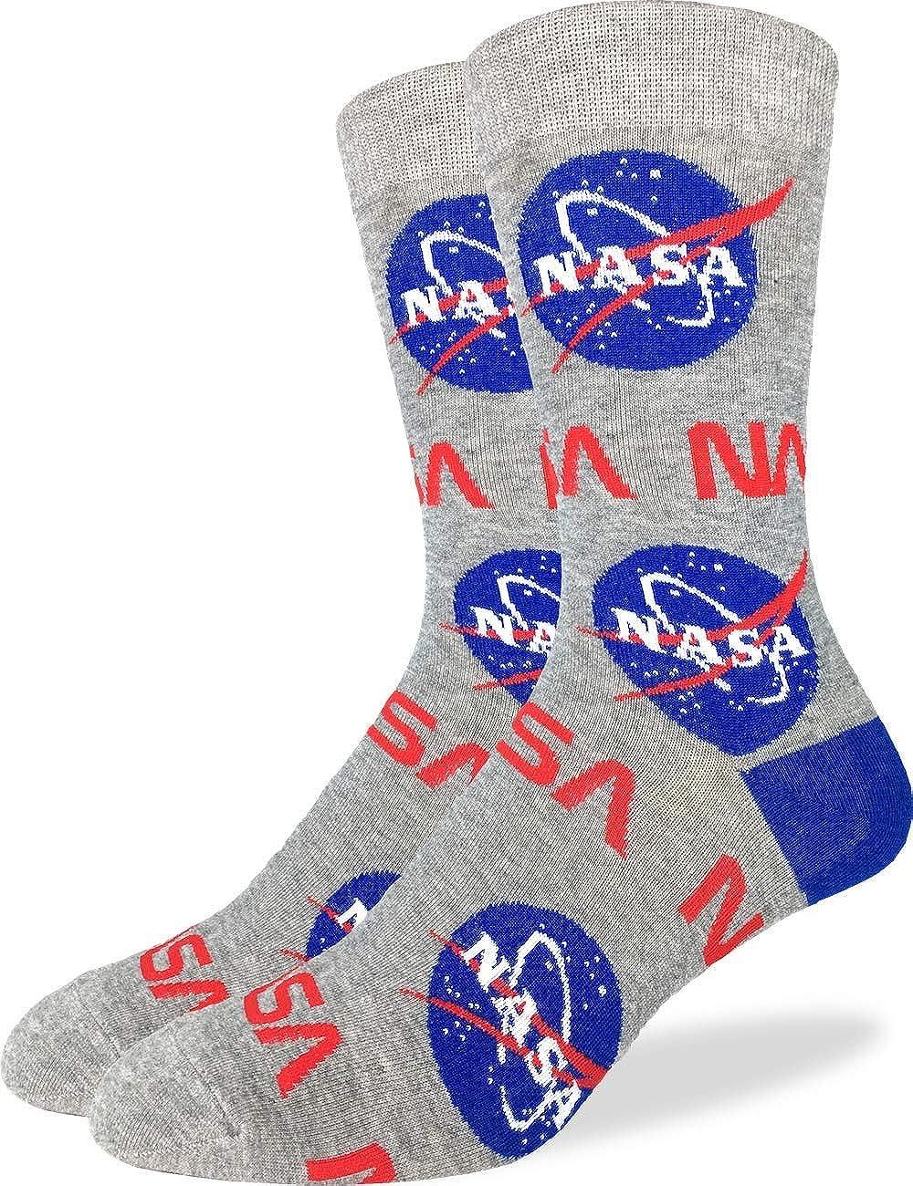 Men's//Boys Black All Over NASA Logos Cotton Ankle Socks