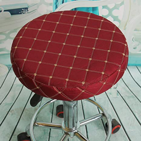 Outstanding Amazon Com Qyla Stool Chair Cover Round Seat Cushion Non Lamtechconsult Wood Chair Design Ideas Lamtechconsultcom