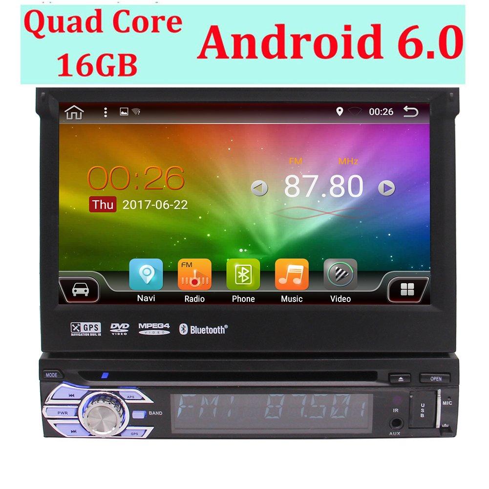 Eincar 2ギガバイトのRAMアンドロイド6.0ユニバーサルシングルディンカーステレオ多機能システムサポート電話ミラーリング、DAB +、OBD2、無線LAN、3G、ラジオRDS、64ギガバイトのUSBのSD、ブルートゥース、ホイールコントロールステアリング、AV OUT、サブウーファーとの1ディンヘッドユニットGPS土ナビゲーション B075FNPGHH
