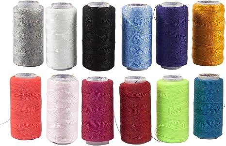 Carretes de hilo de coser – 12 hilos de poliéster para máquina de ...