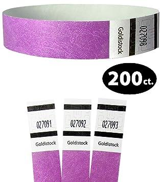 Hellviolett 100 St/ück Eintrittsb/änder aus Tyvek Kontrollb/änder Einlassb/änder