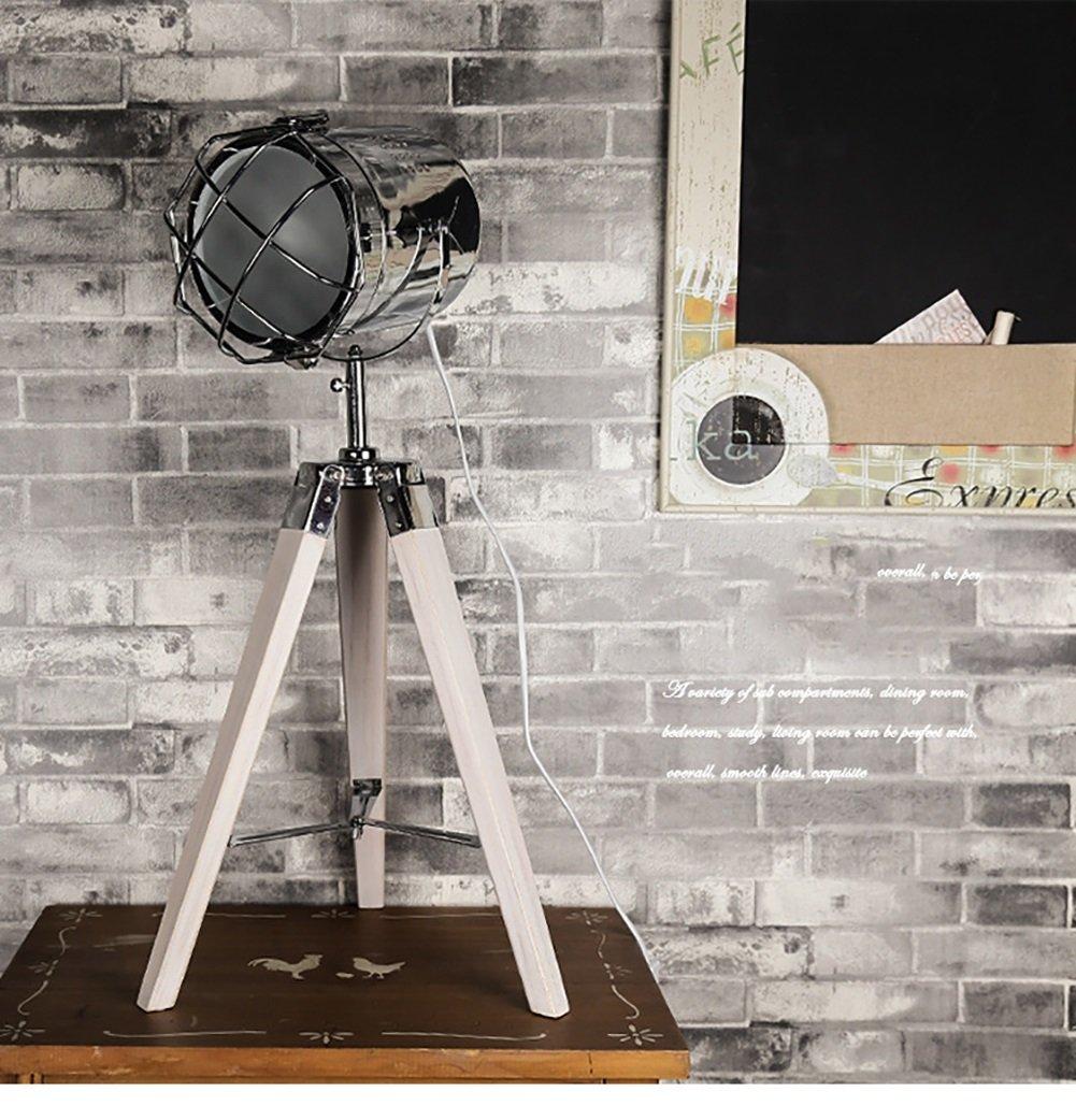 テーブルランプ三脚木製テーブルランプ木製のアートシンプルなクリエイティブな装飾ソリッドウッドのベッドルームテーブルランプ220v E27デスクランプシェードヘムロックダブルプロテクションデスクランプ (色 : B) B07D8TY561 23411 B B