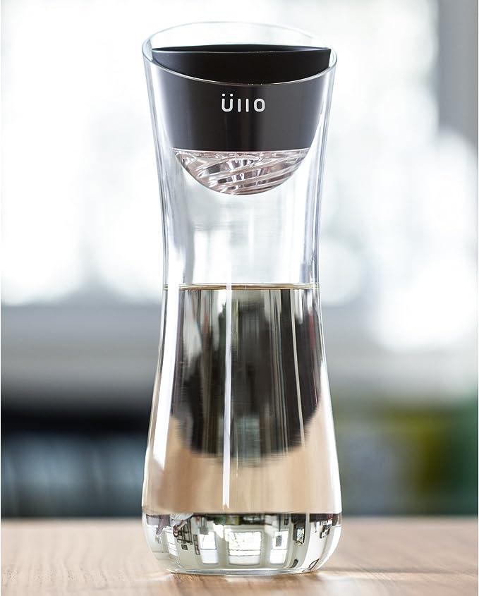 Purificador de vino Ullo con jarra soplada a mano y 6 filtros ...