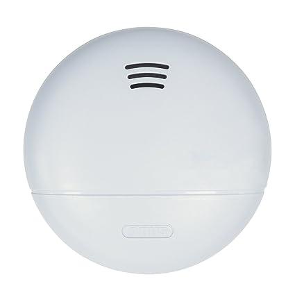 ABUS Detector de Humo rwm140 Adecuado para Cocina, Dormitorio y caravanas, 10 años de
