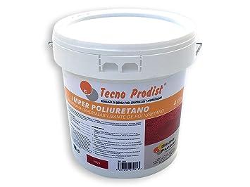 IMPER POLIURETANO de Tecno Prodist - 4 Kg (ROJO) Membrana Impermeabilizante muy elástica para Terrazas - alta resistencia a la intemperie (A Rodillo o ...