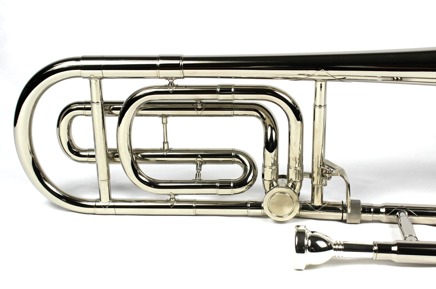 Brand New Bb/F Tenor Trombone w/ Case and Mouthpiece- Nickel Plated Finish by Moz (Image #6)
