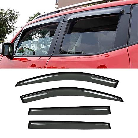 Auto Vent Shade 94981 Original Vent Visor Side Window Deflector Dark Smoke Side Window Wind Deflectors & Visors 4-Piece Set for 2014-2018 Jeep Cherokee
