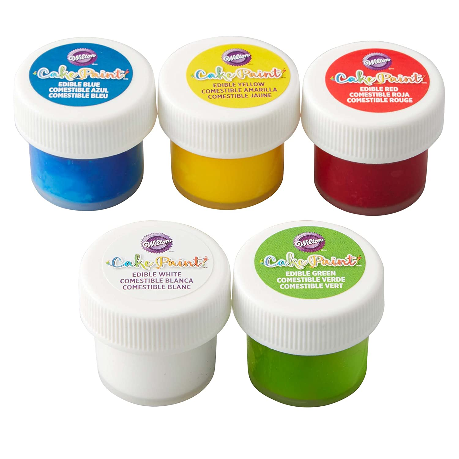 Edible Cake Paint, Primary Color Set of 5 by Wilton WILTON PRODUCTS
