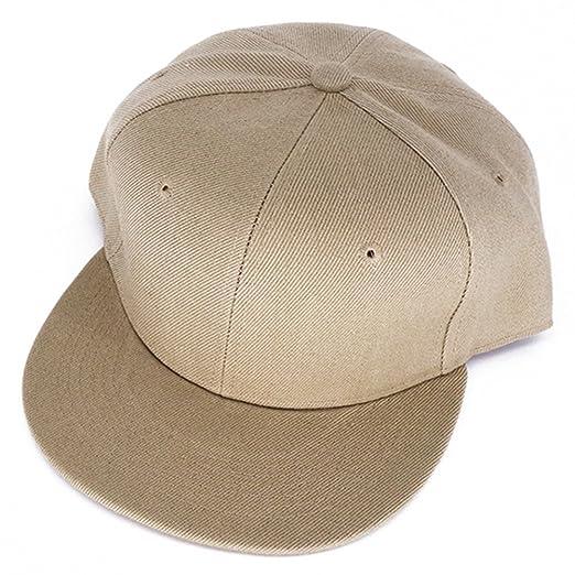 2fc38045bda Katherine Plain Snapback Hats Hip-Hop Adjustable Bboy Baseball Cap Beige