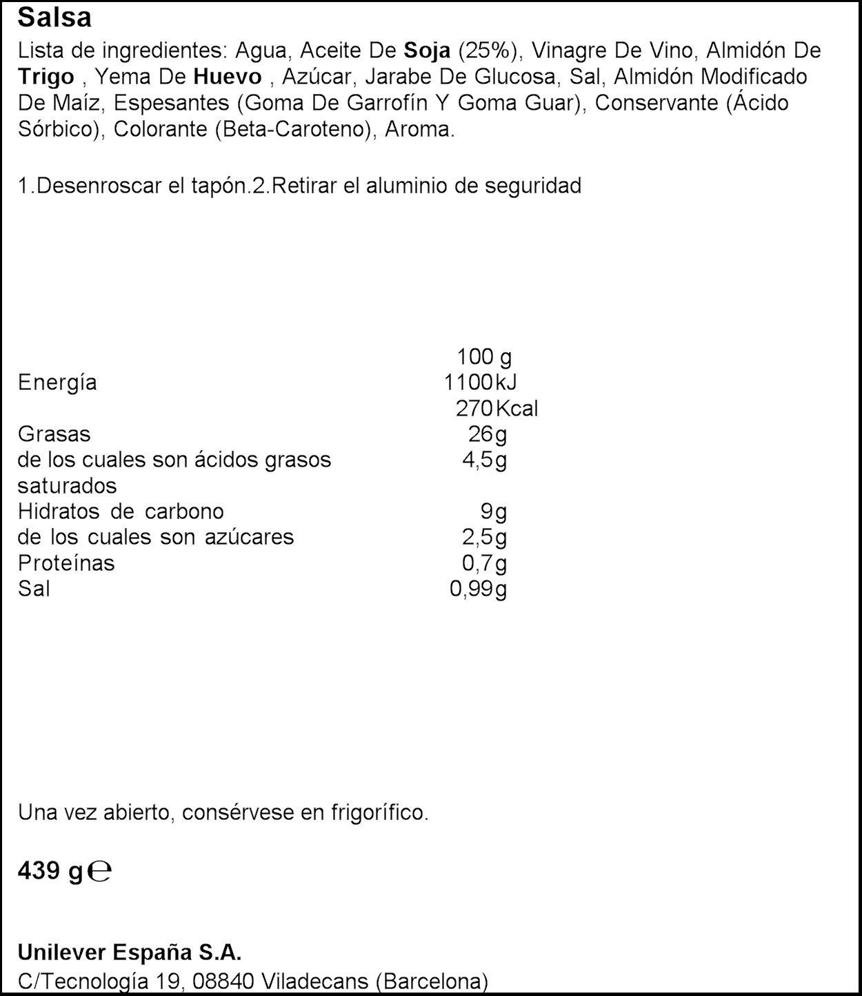 Ligeresa - Salsa Bocabajo - 430 ml: Amazon.es: Alimentación y bebidas