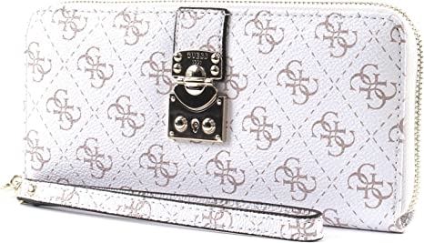 GUESS Joslyn SLG Large Zip Around White: : Bagages