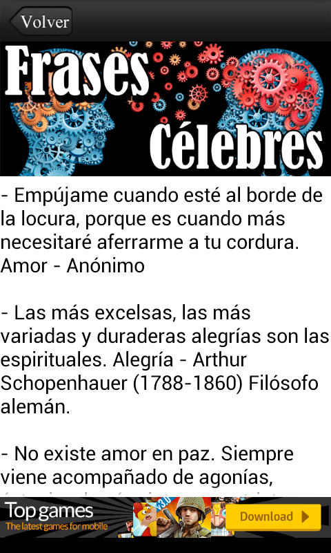 Amazon Com Frases Celebres Gratis Appstore For Android