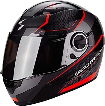 Scorpion Casco Moto exo-490 Vision, Black/Neon Red, XXL