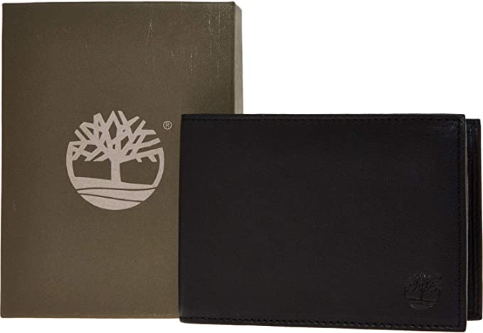 Timberland pour hommes en cuir v/éritable Blix Slimfold Portefeuille 3/volets