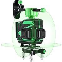 Kraumi Kruislijnlaser Groen 3 x 360 Graden Professioneel Groene Laserniveau, Zelfbalancerend, 3D 12 Laserlijn…