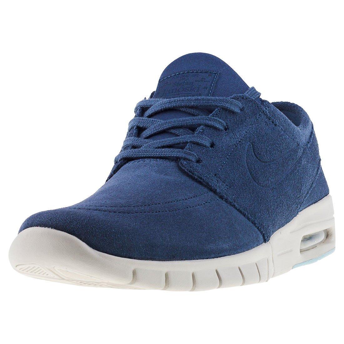Nike Herren SB Stefan Janoski Max L Dunkelblau Leder/Synthetik Sneaker  45 EU|Dunkelblau (Thunder Blue/Light Bone)