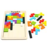 Peradix Colorful Wooden Brain-Teaser Tetris Tangram Puzzle Upgraded Toy for Preschool Imagination Intellectual Education