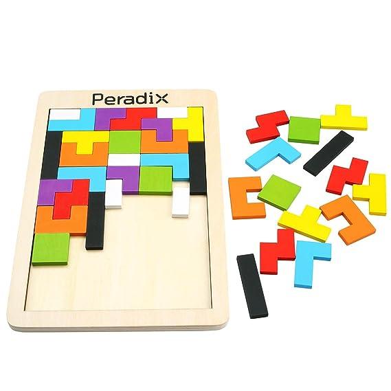 Peradix Tetris Tangram Holzpuzzles Lernspielzeug Intelligenz ...