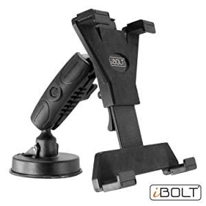"iBOLT Tabdock BizMount -Holder/Mount with Suction Cup Base- for Your Windshield, Dashboard, or Desk - Compatible with All 7""-10"" Tablets: iPad, Samsung Galaxy Tab, Google Nexus"