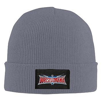 WWE WrestleMania LOGO Unisex Warm Winter Hat Knit Beanie Skull Cap Cuff Beanie  Hat Winter Hats  Amazon.ca  Sports   Outdoors d70998edc9f