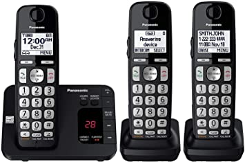 Panasonic DECT 6.0 Expandable Cordless Phone w// Call Block and 3 Handsets