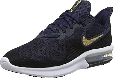 Nike Air MAX Sequent 4, Zapatillas de Running para Mujer, Negro (Black/Mtlc Gold/Obsidian/White/Obsidian 003), 40 EU: Amazon.es: Zapatos y complementos