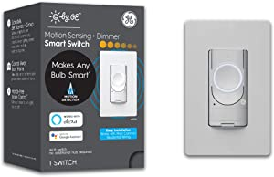 C by GE 3-Wire Smart Switch - Motion-Sensing and Dimmer - Works with Alexa + Google Home Without Hub, Single-Pole/3-Way Replacement, White