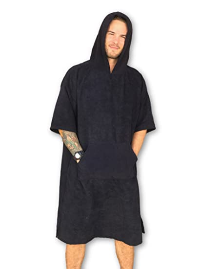 e5afc72ab4630b Amazon.com: Changing Towel Surf Poncho Robe by Breakers with Hood and  Pocket   Quick Dry   One Size Fits Most: Home & Kitchen