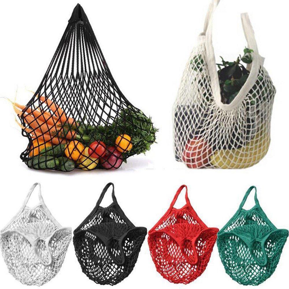 Reusable Shopping Bag, Paymenow Mesh Net Turtle Bag Storage Handbag Totes Ecology Market String Bag for Grocery Shopping Beach Storage Fruit Vegetable Toys Lightweight Shopping Bag (Red)