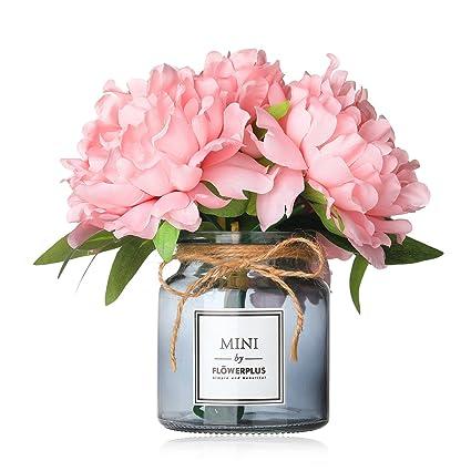 Amazon Missblue Faux Hydrangea Flowers In Vaseartificial Silk
