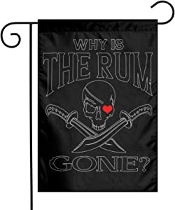 Augenstern Garden Flag Why is The Rum Gone Pirate 12 X 18 Inch Winter Yard Flag Double Sided Yard Decorations Holiday Outdoor Flag