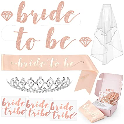 3b7b62253 xo, Fetti Rose Gold Pink Bachelorette Party Decorations Kit - Bridal Shower  Supplies | Bride