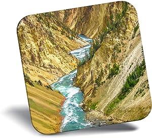 Destination Vinyl ltd Awesome Fridge Magnet - Lower Fall Yellowstone National Park 16428