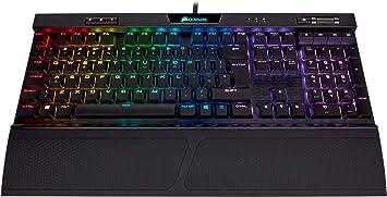 Corsair K70 RGB MK.2 Perfil bajo del Juego mecánico del Teclado (Interruptores Cereza MX Rojas: Lineal y rápido, por Llave RGB luz de Fondo,