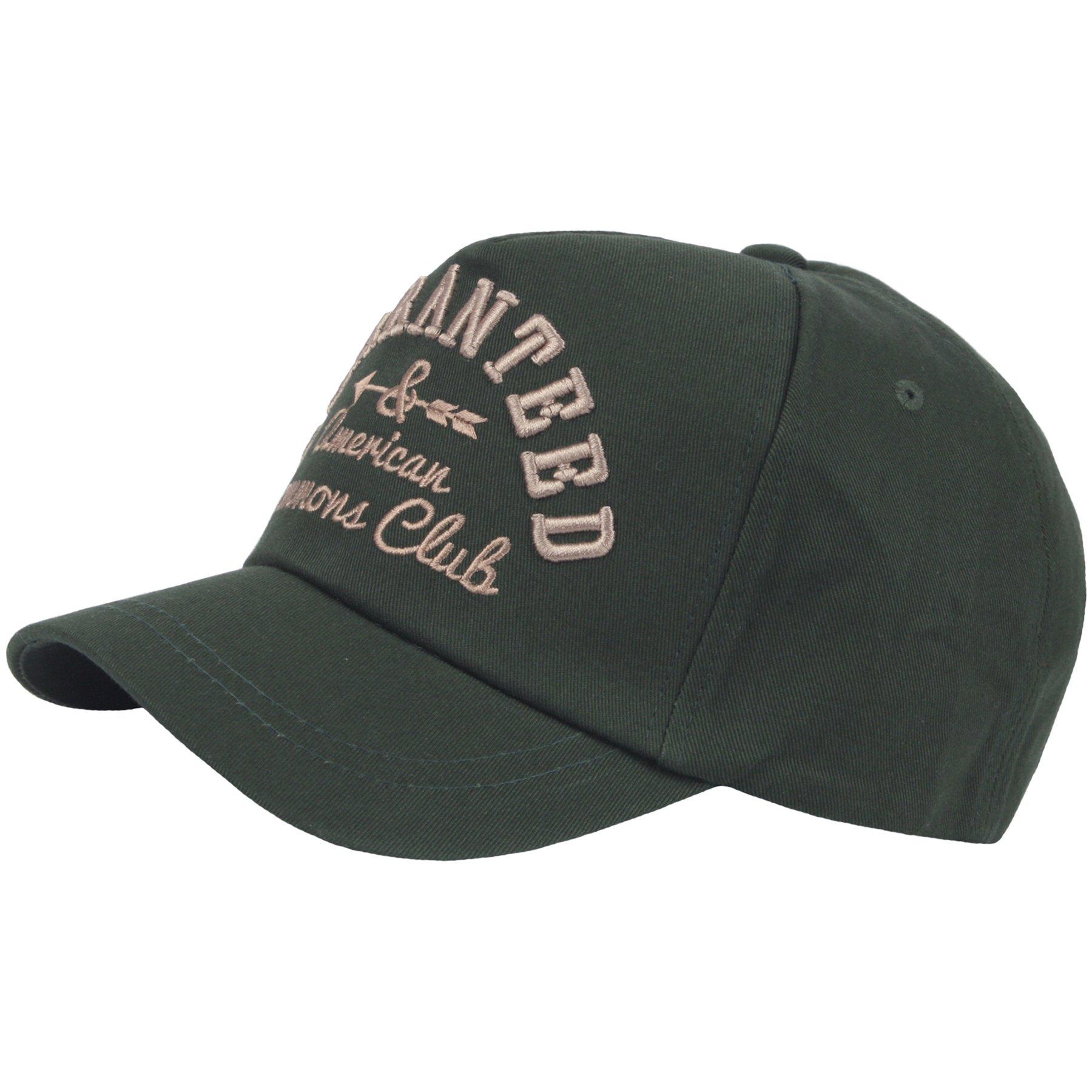 RaOn B340 Embroidered Logo Short Bill Design Club Cute Ball Cap Baseball Hat Truckers (Green)
