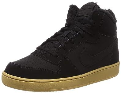 timeless design b9bf7 51155 Nike Court Borough Mid Wntr GS, Chaussures de Basketball garçon,  Multicolore (Black-