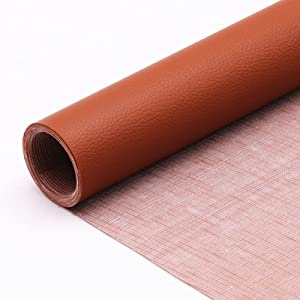 Hamnor Leather Repair Patch Leather Tape 4X60 Inch Self-Adhesive for Sofas, Couch, Furniture, Drivers Seat(Brown)
