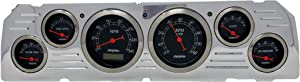 Dolphin Gauges 1964 1965 1966 Chevy Truck 6 Gauge Dash Cluster Panel Set Programmable Black