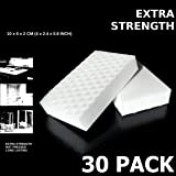 EXTRA STRENGTH Value Deal, MAGIC SPONGE CLEANERS ERASER PADS - WHITE - ALL PURPOSE - LONG LASTING (30 XS Eraser Pack)