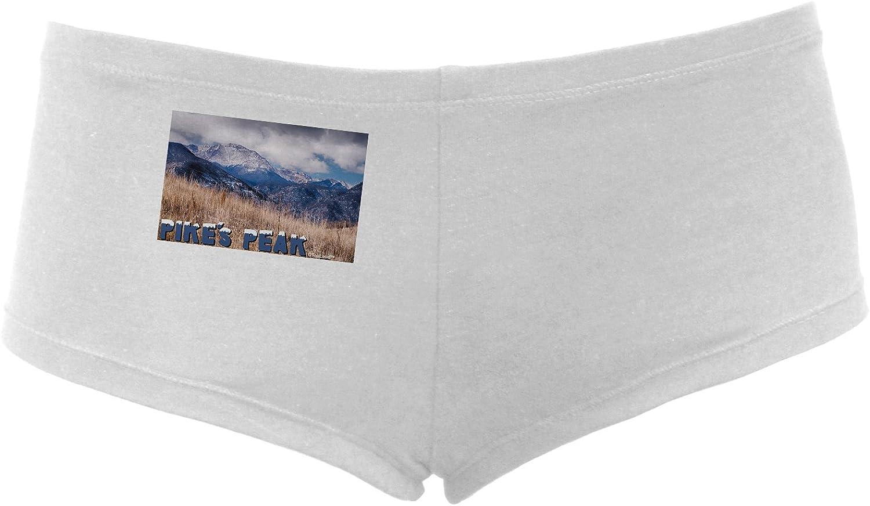 TooLoud Pikes Peak CO Mountains Text Womens Boyshorts